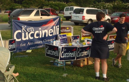 Tea Party Cuccinelli Booth