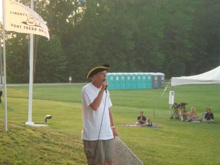 Reid Greenmun Speaks at the Chesapeake Tea Party