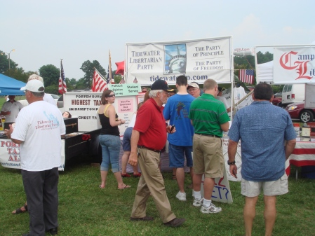 Tidewater Libertarian Booth - Chesapeake Tea Party